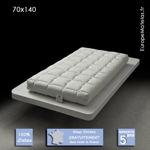 matelas 100 latex b b 70x140 hypoallerg nique vente de literie et de matelas en ligne. Black Bedroom Furniture Sets. Home Design Ideas