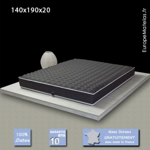 Matelas 100% Latex Black Label 140x190
