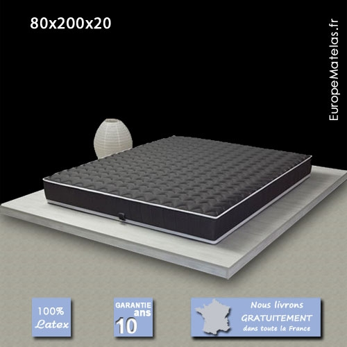 matelas 100 latex black label 80x200 vente de literie et. Black Bedroom Furniture Sets. Home Design Ideas