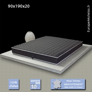 Matelas 100% Latex Black Label 90x190