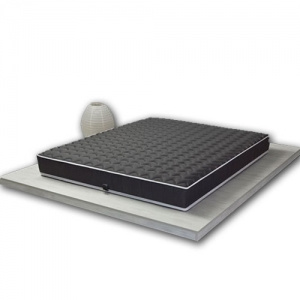 Matelas 100% LATEX Black Label 90x190 structure respirante Technologie DUNLOP 7 zones de confort Anti-Acariens - HOUSSE épaisse HYPOALLERGÉNIQUE