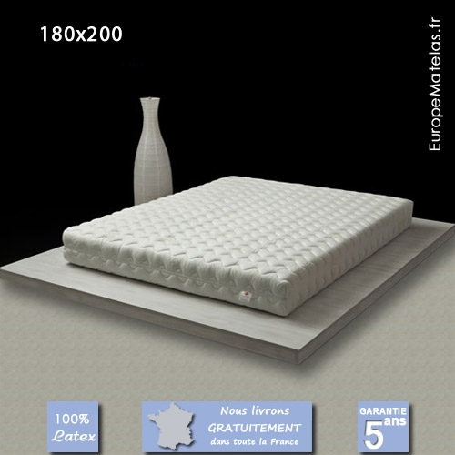 matelas 100 latex coral 180x200 king size vente de literie et de matelas en ligne. Black Bedroom Furniture Sets. Home Design Ideas