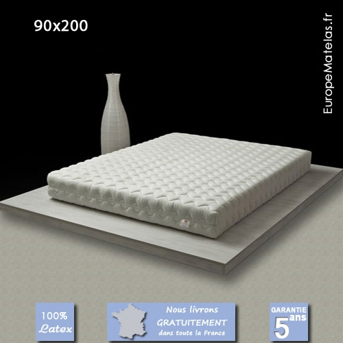 matelas 100 latex coral 90x200 vente de literie et de matelas en ligne. Black Bedroom Furniture Sets. Home Design Ideas