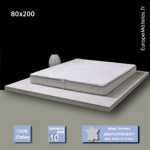matelas memorylatex 80x200 m moire de forme vente de literie et de matelas en ligne. Black Bedroom Furniture Sets. Home Design Ideas