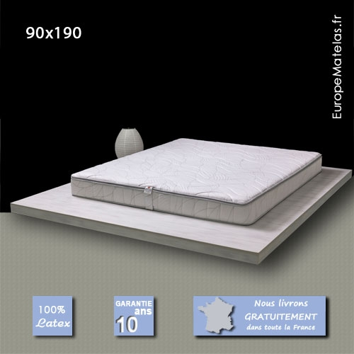 matelas memorylatex 90x190 m moire de forme vente de literie et de matelas en ligne. Black Bedroom Furniture Sets. Home Design Ideas
