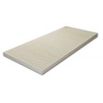 Surmatelas 100% LATEX 160x200 - âme respirante ANTI-TRANSPIRATION