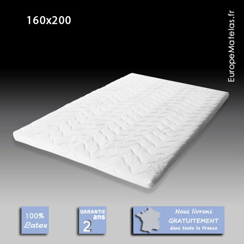 surmatelas 100 latex 160x200 vente de literie et de matelas en ligne. Black Bedroom Furniture Sets. Home Design Ideas