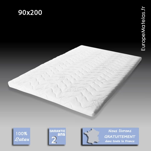 surmatelas 100 latex 90x200 vente de literie et de matelas en ligne. Black Bedroom Furniture Sets. Home Design Ideas